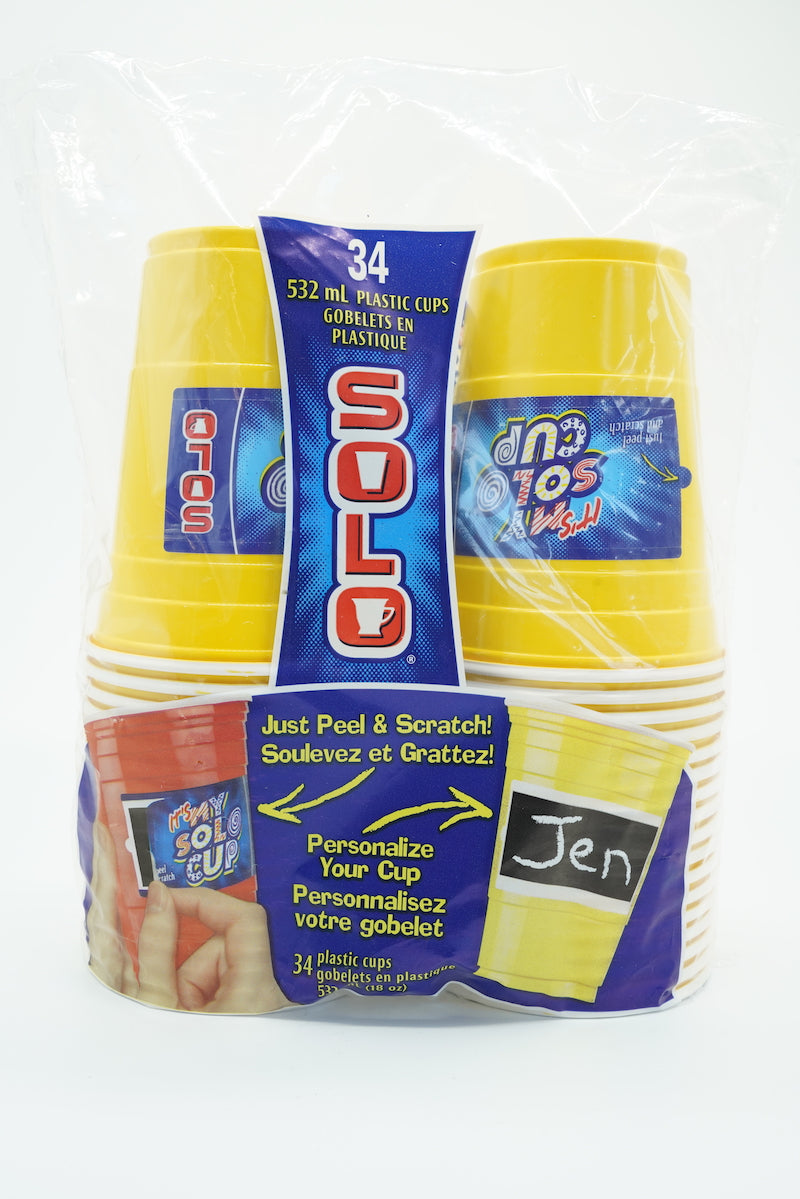 Solo Peel & Scratch Personalise Your Cups