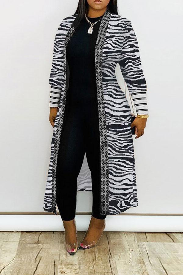Graphic Print  On-trend Cardigan