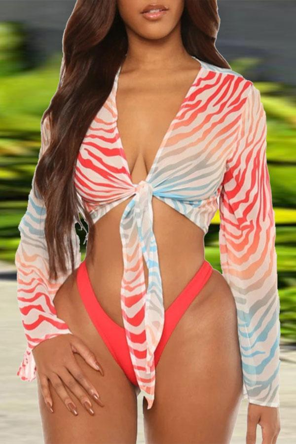 Solid Color Classic Three Pieces Swimwear
