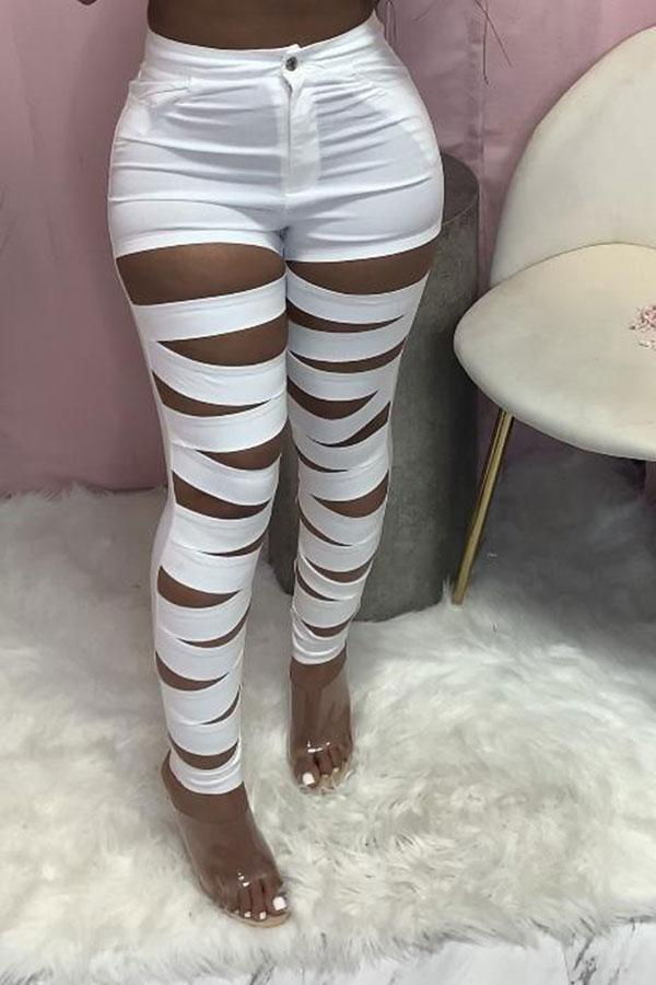 Patchwork Cutout Stylish Pants