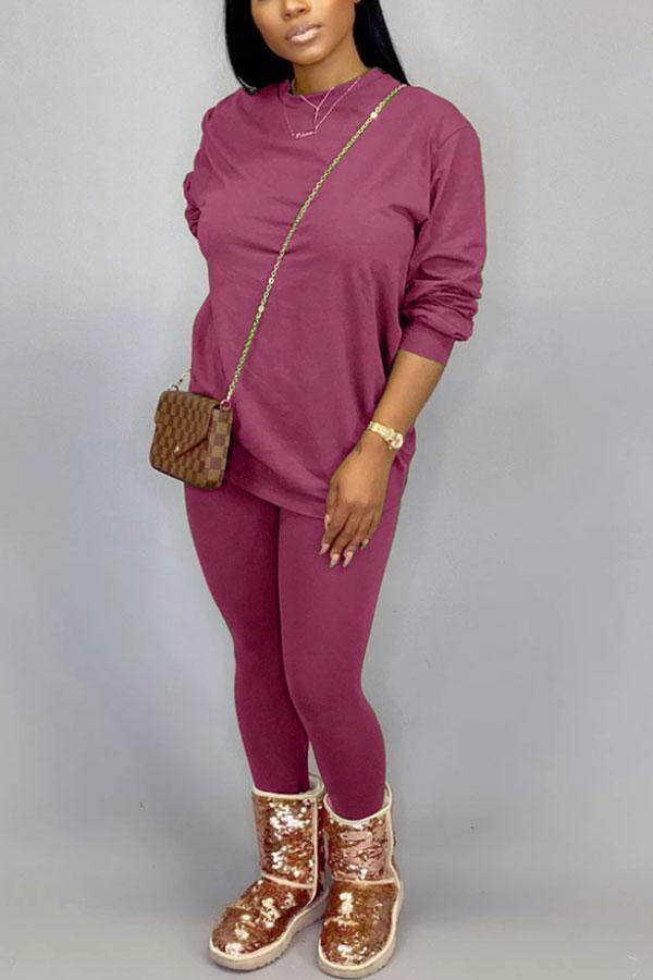 Solid Color Smart Pants Suit
