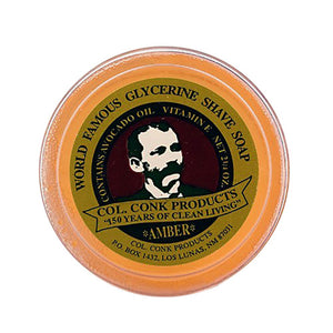 Colonel Conk Amber Glycerin Shave Soap (64g/2.25oz)