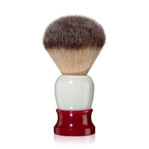 "FINE Accoutrements - ""Classic"" Shaving Brush - Red/White"