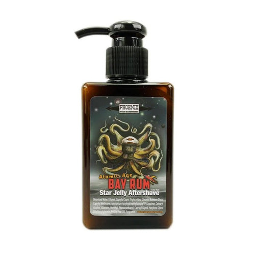 Phoenix Artisan Accoutrements - Atomic Age Bay Rum Star Jelly Aftershave ~ A Whole New Species of Aftershave - Mentholated - 5oz