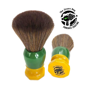 Phoenix Artisan Accoutrements - The Green Ray - 24mm Hybrid Tribble Synthetic Brush - Retro Shave Tech!