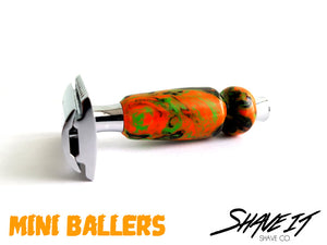 "Shave It DE Safety Razor #0004BAM - ""Meister"" - MINI BALLER Short Handle"