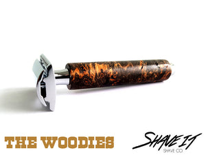 "Shave It DE Safety Razor #0006LHW - ""Deadwood"" - Long Handle - Tree Trunk"