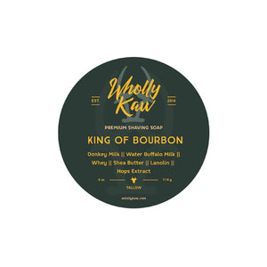 Wholly Kaw - King of Bourbon Shaving Soap (Tallow) - 4oz