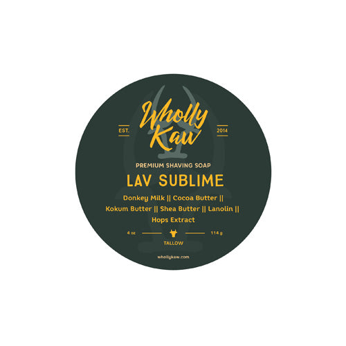 Wholly Kaw - Lav Sublime Shaving Soap (Tallow) - 4oz