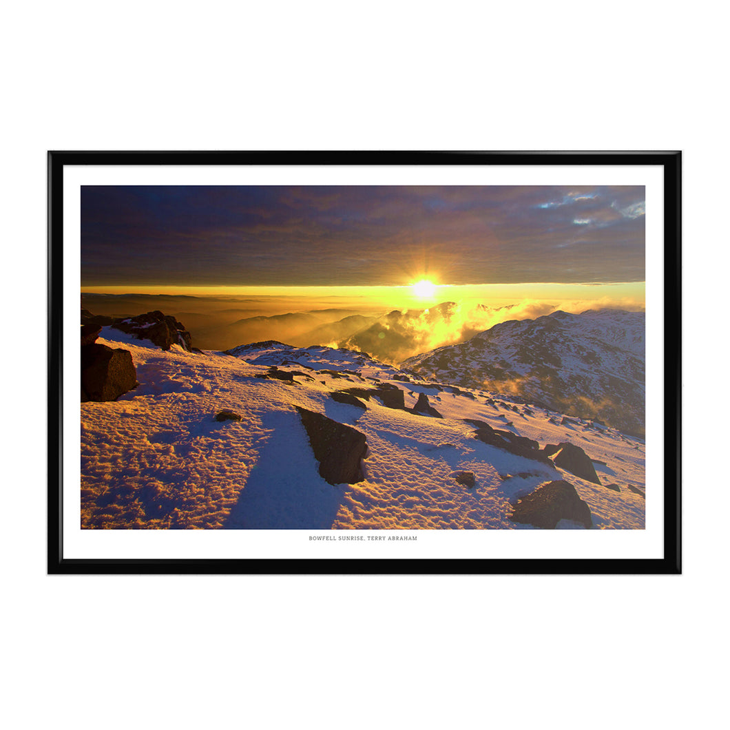 Terry Abraham Art Print: Bowfell Sunrise