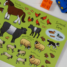Load image into Gallery viewer, The Scotland Sticker Book Scottish Farm Animal Stickers