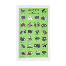 Load image into Gallery viewer, Herdwicks of the Lake District Tea Towel