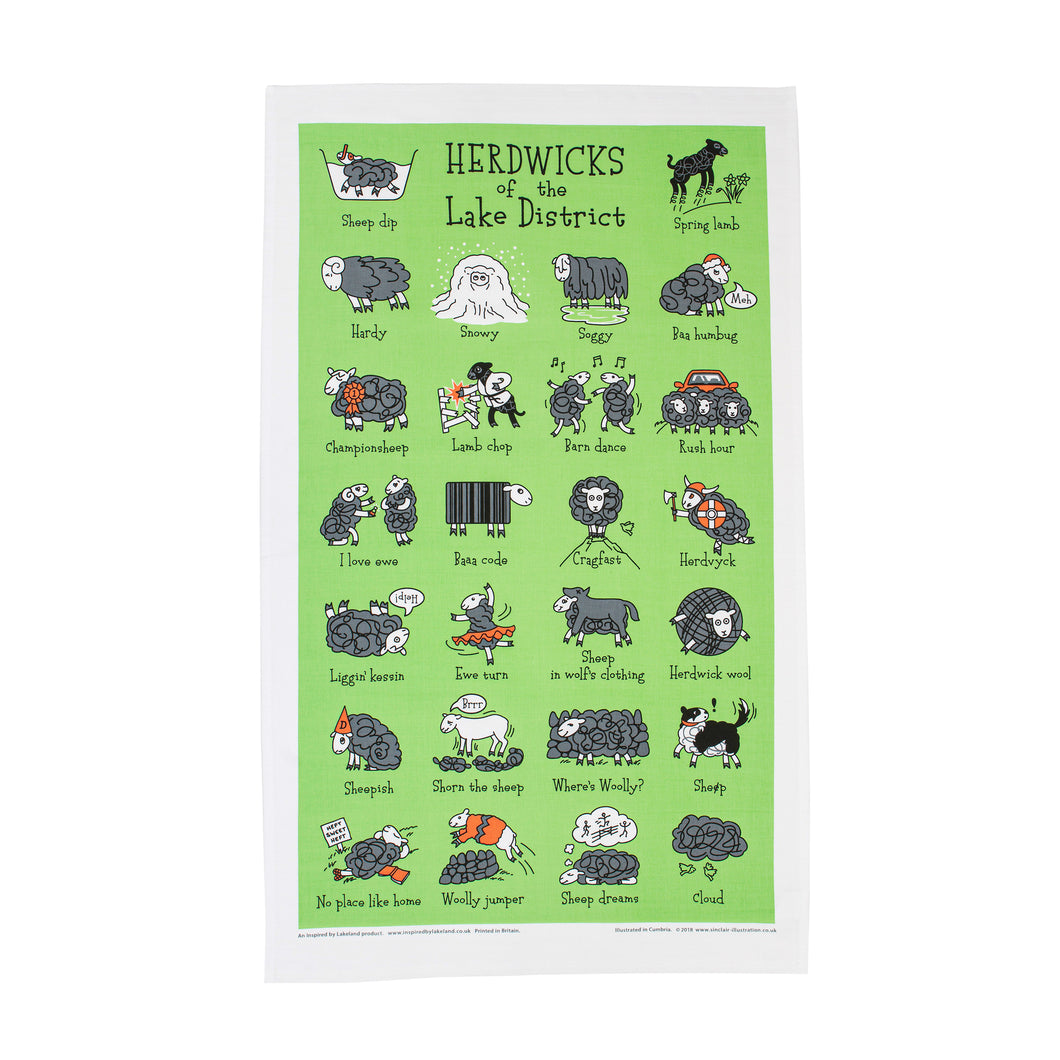 Herdwicks of the Lake District Tea Towel