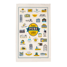 Load image into Gallery viewer, Iconic Pubs of the Lake District Tea Towel