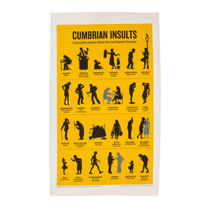 Cumbrian Insults Tea Towel
