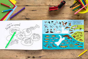 The Lake District Sticker Book Colour Activity