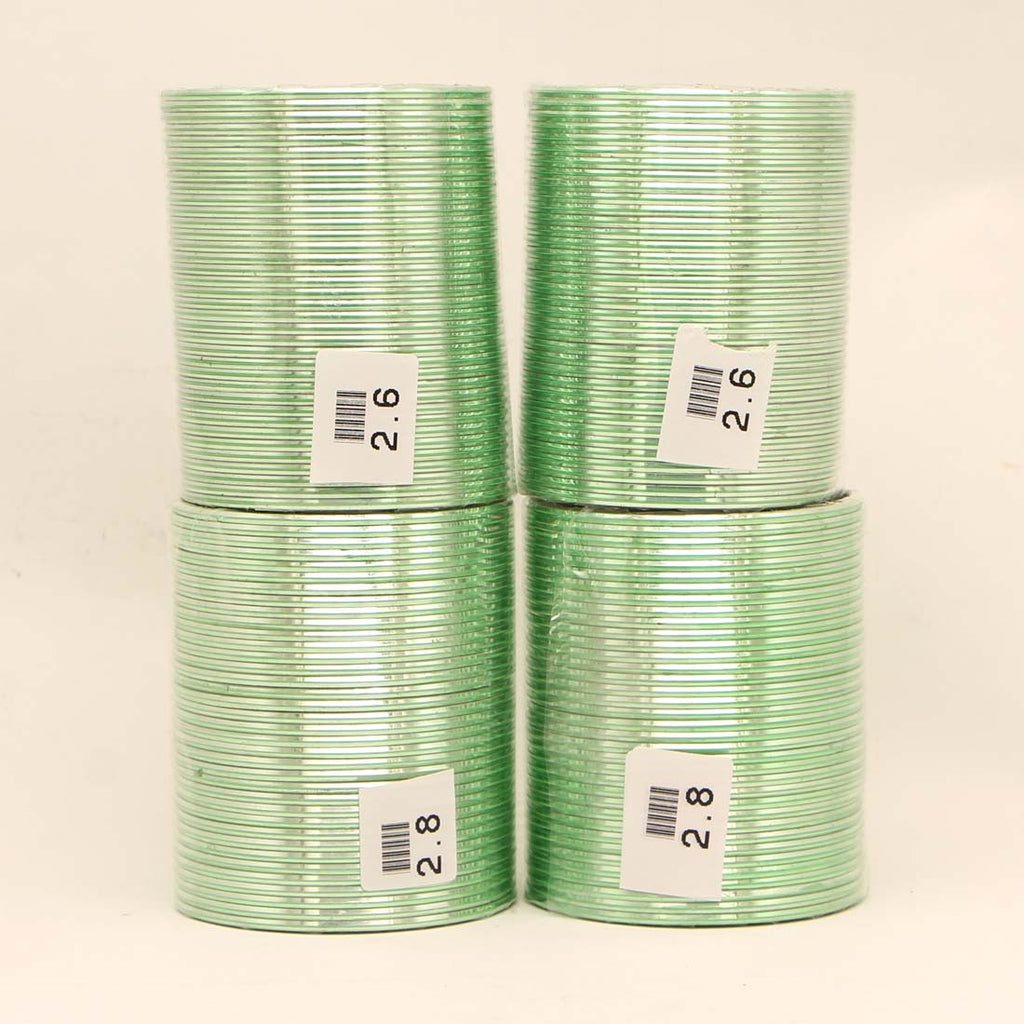 Pista Green Color 4 Set Of Fashion Bangles Combo Size(2 Set Of 2.6, 2 Set Of 2.8) FB136CMB