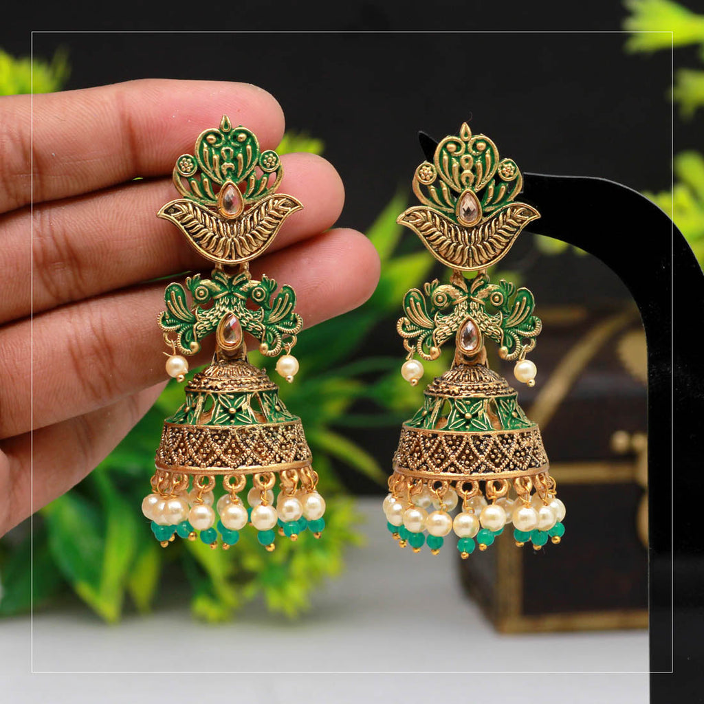 Preyans Mint Meena Earrings (MNTE198) - preyans.com