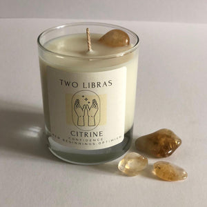 Citrine Crystal Intention Candle