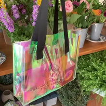 Load and play video in Gallery viewer, Holographic Mini Tote Bag