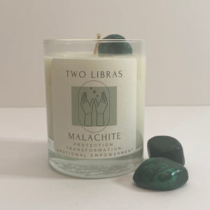 Malachite Crystal Intention Candle