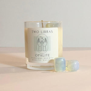 Opalite Crystal Intention Candle