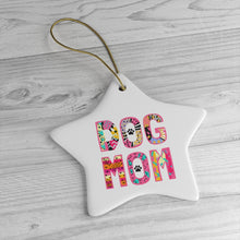 Load image into Gallery viewer, Buy online Premium Quality Dog Mom - Sassy - Ceramic Ornaments - Christmas Tree Decorations - #dogmomtreats - Dog Mom Treats