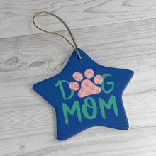 Load image into Gallery viewer, Buy online Premium Quality Dog Mom - Small Paws in Big Paw - Ceramic Ornaments - Christmas Tree Decoration - #dogmomtreats - Dog Mom Treats