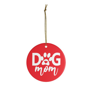 Buy online Premium Quality Dog Mom - Heart in Paw - Ceramic Ornaments - Christmas Tree Decoration - #dogmomtreats - Dog Mom Treats
