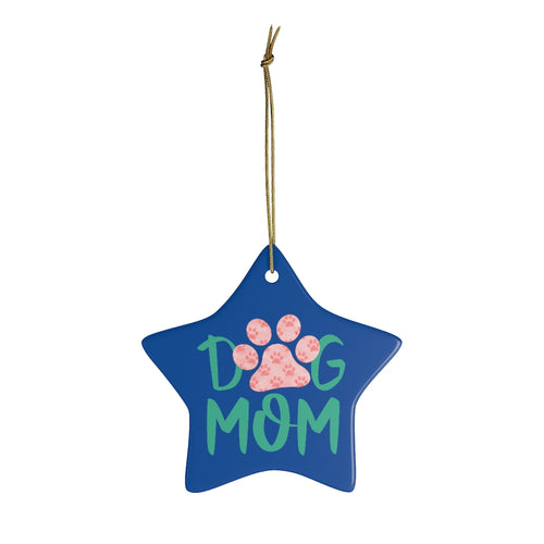 Buy online Premium Quality Dog Mom - Small Paws in Big Paw - Ceramic Ornaments - Christmas Tree Decoration - #dogmomtreats - Dog Mom Treats