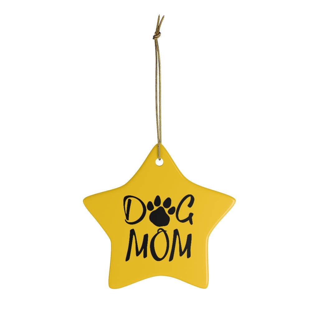 Buy online Premium Quality Dog Mom - Paw Collection - Ceramic Ornaments - Christmas Tree Decoration - #dogmomtreats - Dog Mom Treats