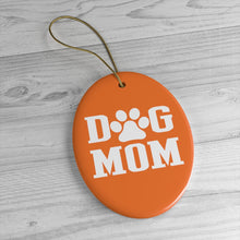 Load image into Gallery viewer, Buy online Premium Quality Dog Mom - Block Text - Ceramic Ornaments - Christmas Tree Decoration - #dogmomtreats - Dog Mom Treats