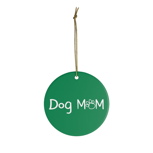 Buy online Premium Quality Dog Mom - Young Script - Ceramic Ornaments - Christmas Tree Decoration - #dogmomtreats - Dog Mom Treats
