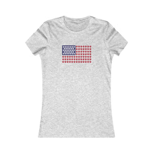 Buy online Premium Quality American Flag Paw Stripe  - Women's Favorite Tee - Dog Mom Treats
