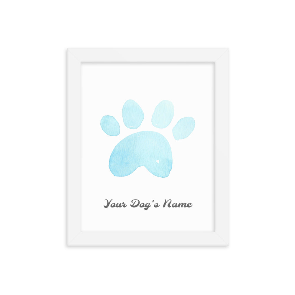 Buy online Premium Quality Personalized with Your Dog's Name - Framed photo paper poster - Blue - Great Gift Idea for Dog Mom - Dog Mom Treats