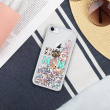 Load image into Gallery viewer, Buy online Premium Quality Dog Mom - Leopard Paw - Liquid Glitter Phone Case - Gift Idea - #dogmomtreats - Dog Mom Treats