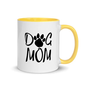 Buy online Premium Quality Dog Mom - Paw - Mug with Color Inside - Gift Idea - #dogmomtreats - Dog Mom Treats