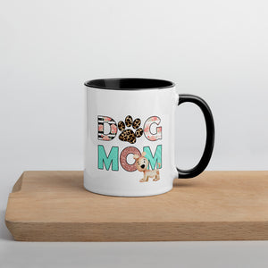 Buy online Premium Quality Dog Mom - Leopard Paw - Mug with Color Inside - Gift Idea - #dogmomtreats - Dog Mom Treats