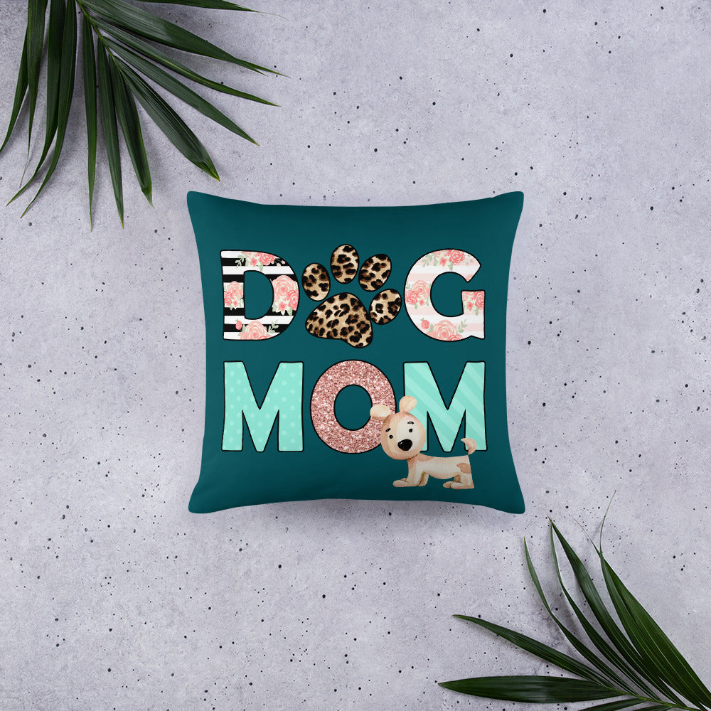 Buy online Premium Quality Dog Mom - Leopard Paw - Basic Pillow - Gift Idea - #dogmomtreats - Dog Mom Treats