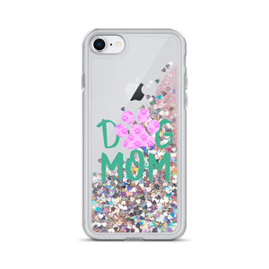 Buy online Premium Quality Dog Mom - Small Paws in Big Paw - Liquid Glitter Phone Case - Gift Idea - #dogmomtreats - Dog Mom Treats