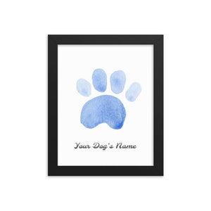 Buy online Premium Quality Personalized Dog Paw Frame - Framed photo paper poster - Dark Blue - Great Gift Idea for Dog Mom - Dog Mom Treats