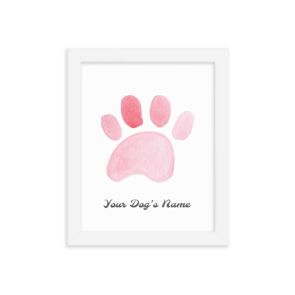 Buy online Premium Quality Personalized Dog Paw Frame - Framed photo paper poster - Red - Great Dog Mom Gift Idea - Dog Mom Treats