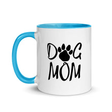 Load image into Gallery viewer, Buy online Premium Quality Dog Mom - Paw - Mug with Color Inside - Gift Idea - #dogmomtreats - Dog Mom Treats
