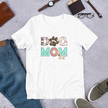 Load image into Gallery viewer, Buy online Premium Quality Dog Mom - Leopard Paw - Short-Sleeve Unisex T-Shirt - Gift Idea - #dogmomtreats - Dog Mom Treats