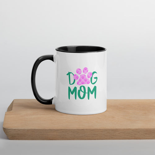 Buy online Premium Quality Dog Mom - Small Paws in Big Paw - Mug with Color Inside - Gift Idea - #dogmomtreats - Dog Mom Treats
