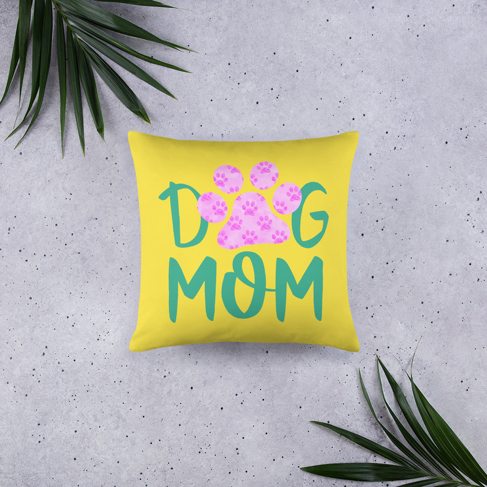 Buy online Premium Quality Dog Mom - Small Paws in Big Paw - Basic Pillow - Gift Idea - #dogmomtreats - Dog Mom Treats