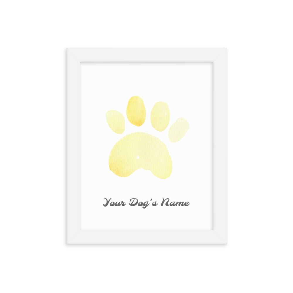 Buy online Premium Quality Personalized Dog Paw Frame - Framed photo paper poster - Yellow - Great Gift Idea for Dog Mom - Dog Mom Treats