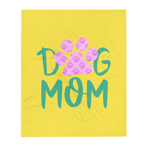 Buy online Premium Quality Dog Mom - Paws in Paw - Throw Blanket - Gift Idea - #dogmomtreats - Dog Mom Treats