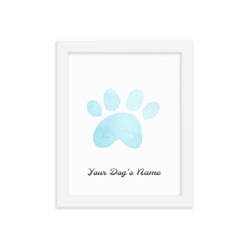 Buy online Premium Quality Personalized Dog Paw Frame - Framed photo paper poster - Light Blue - Great Gift Idea for Dog Mom - Dog Mom Treats