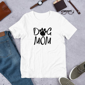 Buy online Premium Quality Dog Mom - Paw - Short-Sleeve Unisex T-Shirt - Gift Idea - #dogmomtreats - Dog Mom Treats